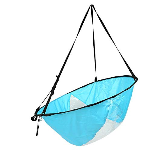 Alomejor 108cm Kayak Sail Paddle Foldable Canoe Wind Paddle Board Sail With Clear Window and Storage Bag(Blue) from Alomejor
