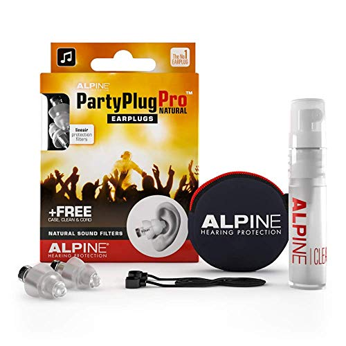 Alpine PartyPlug Pro Ear Plugs - Hearing protection for Parties, Music Festivals and Concerts - Flat Filter -  Comfortable and hypoallergenic from Alpine Hearing Protection