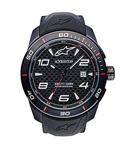 Alpinestars Mens Quartz Watch, Analogue Classic Display and Silicone Strap 1036-96006 from Alpinestars