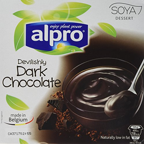 Alpro Dark Chocolate Dessert 4 x 125 g (Pack of 6) from Alpro