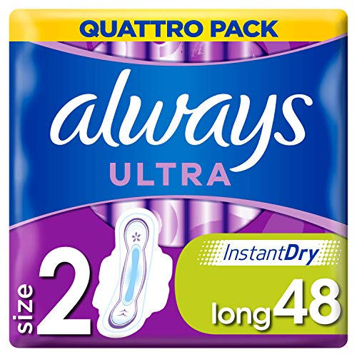 Always Sanitary Towels Long with Wings 48 Cnt from Always