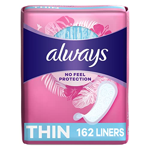 Always Thin Dailies Wrapped Liners, Unscented, 162 Count by Always from Always