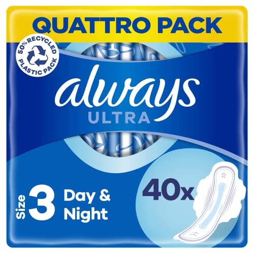 Always Ultra Night with Wings Size 3 Pads, 40 Value Pack from Always