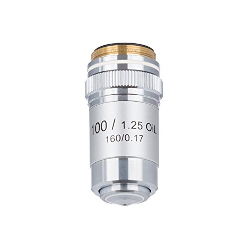 AmScope A100X-V300 100X (Oil) Achromatic Microscope Objective for Compound Microscopes from AmScope