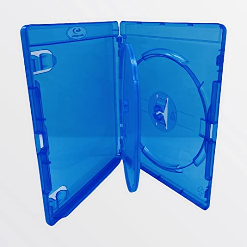 10 X Amaray Triple Blu Ray Case - With A Inner Tray 14mm Spine Packaged in Dragon Trading Branded Packaging from Amaray