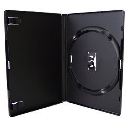 Vision Media 100 X Black Single Amaray DVD/CD/BLU RAY Case from Amaray