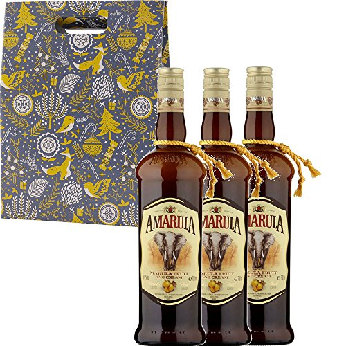 Amarula Cream Liqueur in Xmas Gift Box With Handcrafted Gifts2Drink Tag from Amarula