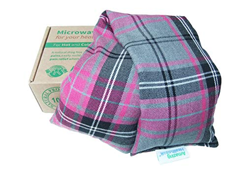 Unscented Microwave wheat bag-UK Made - NON Scented Pink Tartan Cotton Made in Britain from Amazing Health