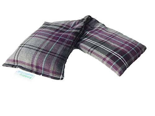 Microwave wheat bag-UK Made - NON Scented Purple Tartan Cotton Made in Britain from Amazing Health