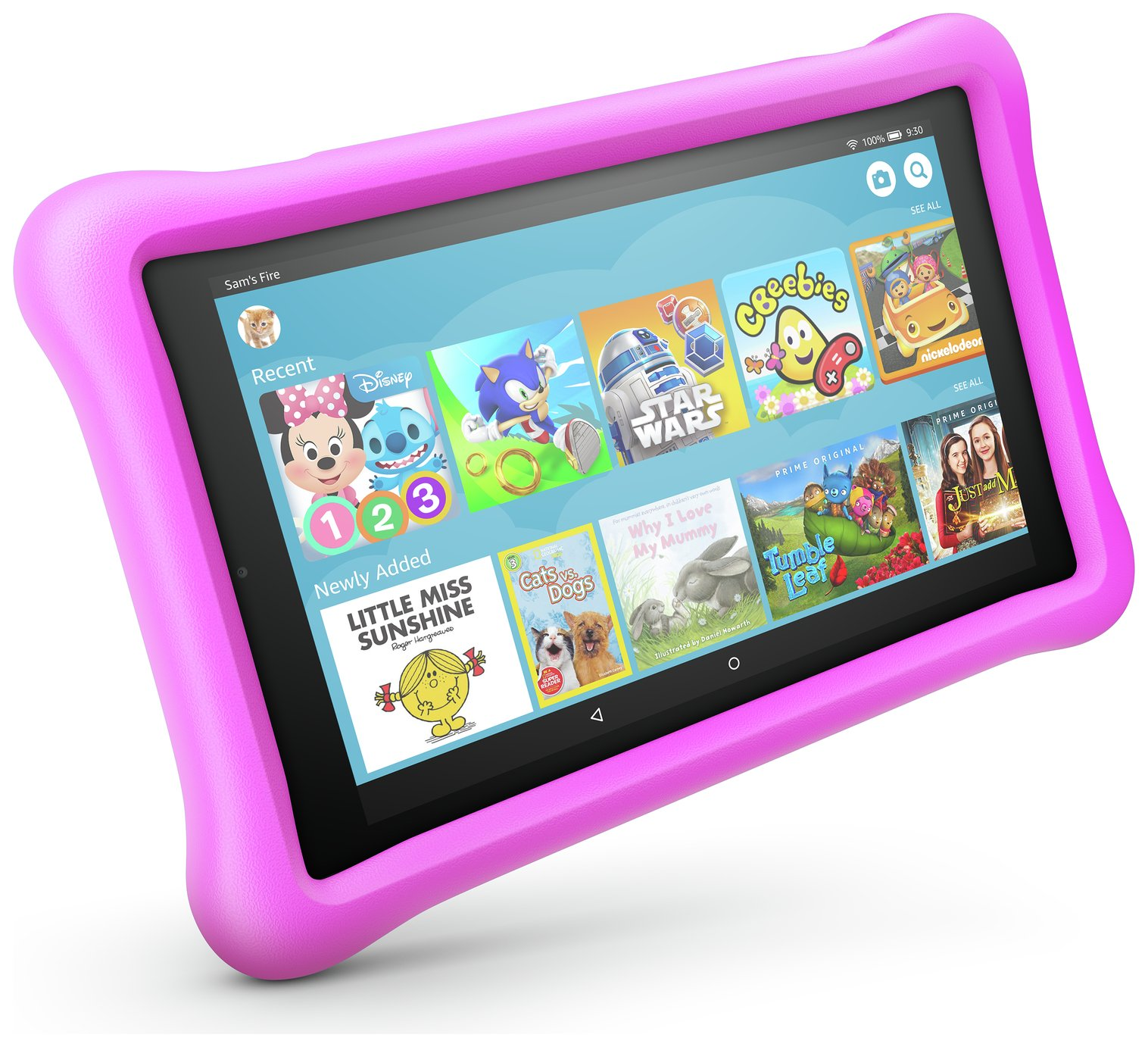 Amazon Fire 8 Kids Edition 8 Inch 32GB Tablet - Pink from Amazon