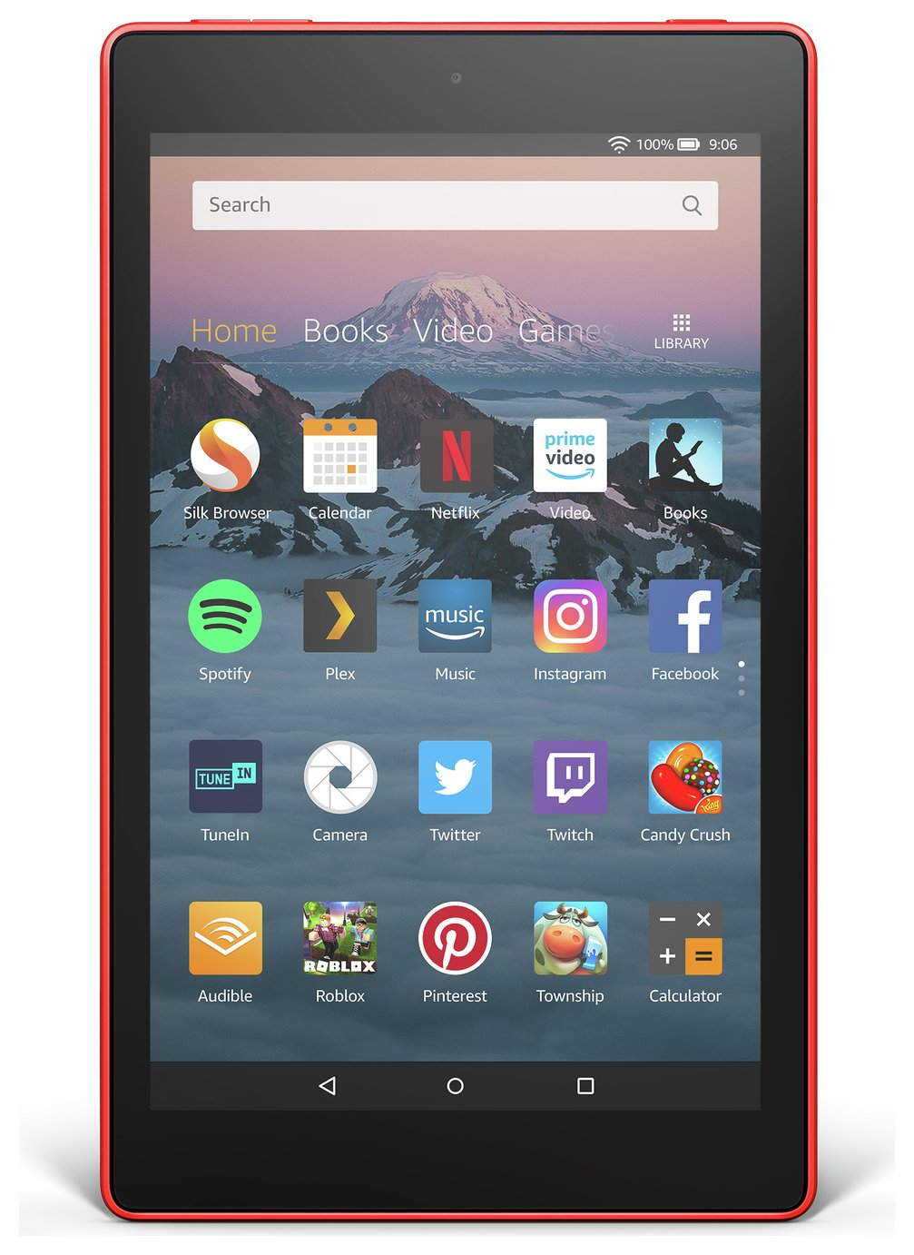 Amazon Fire HD 8 Alexa 8 Inch 16GB Tablet - Punch Red from Amazon