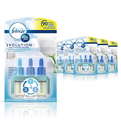 Ambi Pur 3Volution Cotton Fresh Air Freshener Plug-In Refill 20 ml (Pack of 6) from Ambipur