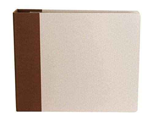 American Crafts 12 x 12-inch Modern D-Ring Album, Chestnut from American Crafts