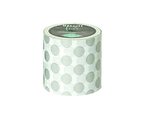 American Crafts Heidi Swapp Marquee Love Washi Tape 2-inchSilver Foil Polka Dot, 9', Japanese paper, Silver from American Crafts