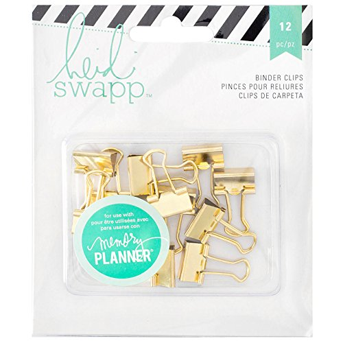 American Crafts Heidi Swapp Memory Planner Binder Clips 1, Acrylic, Multicolour, 1.27x10.79x13.33 cm from American Crafts