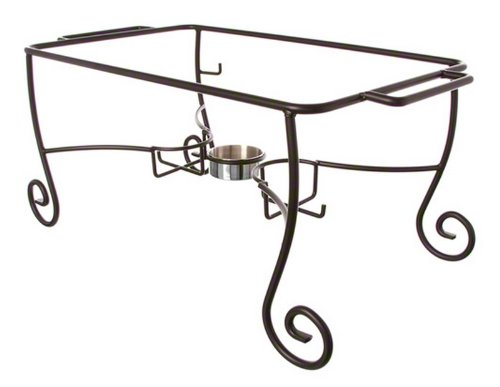 American Metalcraft CF1 Wrought Iron Chafer Frames with Cups, Silver from American Metalcraft