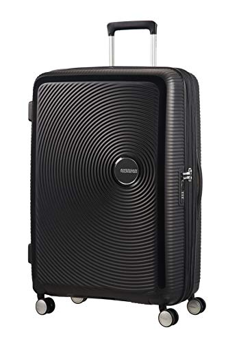 American Tourister - Soundbox Spinner Expandable, 77cm, 97/110 L - 4.2 KG, Black (Bass Black) from American Tourister