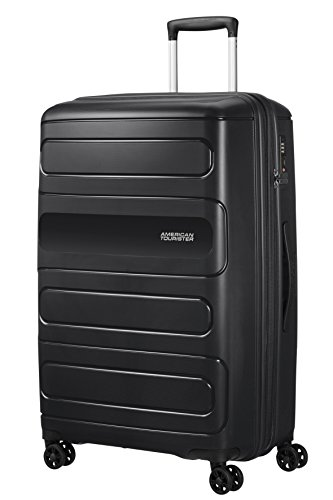 American Tourister Sunside Spinner 77 Expandable, 4.5 KG, 106/118L, Black from American Tourister