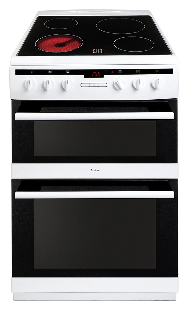 Amica AFC6550WH 60cm Double Oven Electric Cooker - White from Amica
