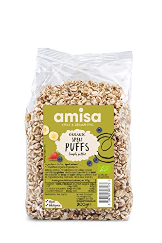 Amisa Organic Spelt Puffs 200 g (Pack of 6) from Amisa