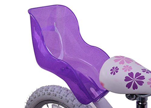 GIRLIE BIKE PURPLE GLITTER BABY DOLLY CARRIER GIRLS DOLLS SEAT IDEAL BIRTHDAY PRESENT from Ammaco