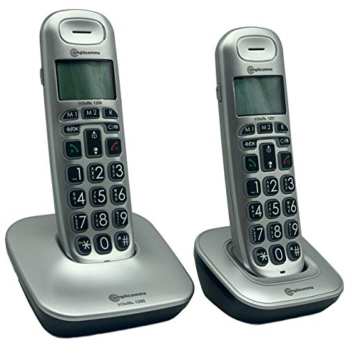 Amplicomms Big Tel 1202 Cordless Telephone + Additional Handset from Amplicomms