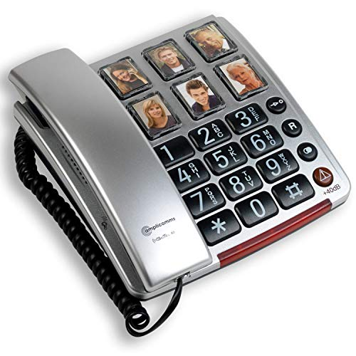 Amplicomms BigTel 40 Plus Amplified Big Button Telephone with Programmable Photo Buttons from Amplicomms
