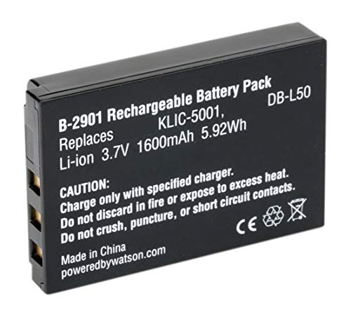 Amsahr Digital Replacement Battery for Kodak KLIC-5001, EasyShare DX6490, DX7590, DX7630, P712, P850 Camera from Amsahr