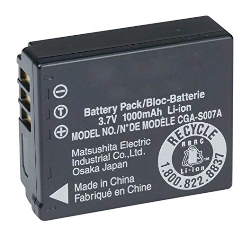 Amsahr Digital Replacement Battery for Panasonic CGA S007, S007A1B, S007E, CGR S007A1B, S007E Camera from Amsahr