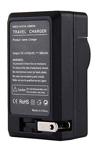 Amsahr Digital Replacement Mini Battery Travel Charger for Panasonic VW-VBF2E, M9000, BP-50, VM749 Camera from Amsahr