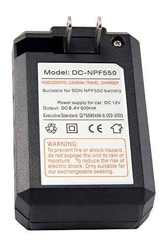 Amsahr Digital Replacement Mini Battery Travel Charger for Sony NP-FF50, FF51, FF51S, FF70, FF71 Camera from Amsahr