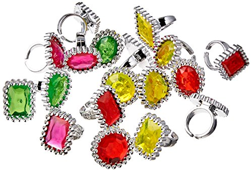 Party Favours - 18 Jewel Rings from amscan