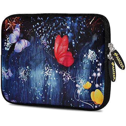 Amzer Butterfly Dream Design Neoprene Soft Sleeve for Up to 7.75 inch Tablet from Amzer