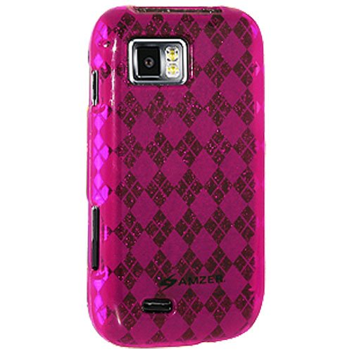 Amzer Luxe Argyle Skin Gel Case Cover for Samsung Omnia 2 i8000 - Hot Pink from Amzer