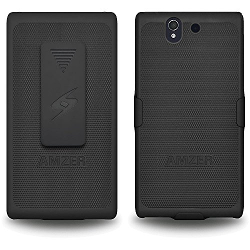Amzer Shellster Holster Case Cover for Sony Xperia Z - Black from Amzer