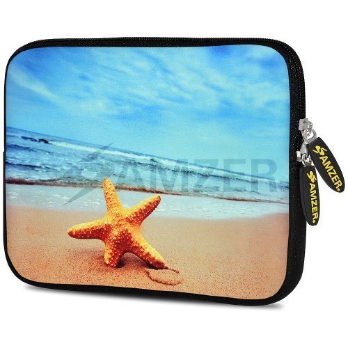 Amzer Star Fish Design Neoprene Soft Sleeve for Up to 7.75 inch Tablet from Amzer