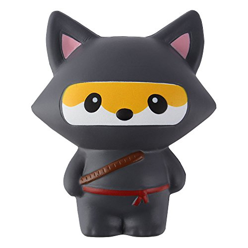 Anboor Squishies Ninja Fox Squishy Slow Rising Squeeze Toy Kawaii Scented Soft Squishies Animal Toys Prime 1Pcs 11.5*7.5*13.5cm from Anboor