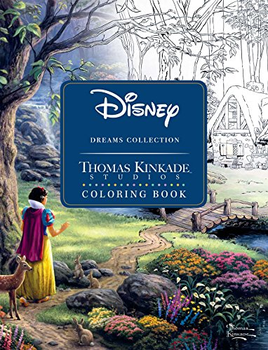 Disney Dreams Collection Thomas Kinkade Studios Coloring Book from Simon & Schuster