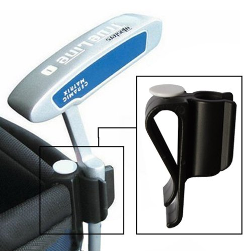 Golf Bag Clip-on Putter Holder Golf Organizer Putter Clip Ball Marker--black TGK/01 from Andux