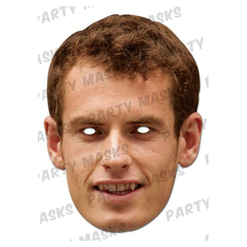 Andy Murray Cardboard Celebrity Party Mask (Mask/Headpiece from Andy