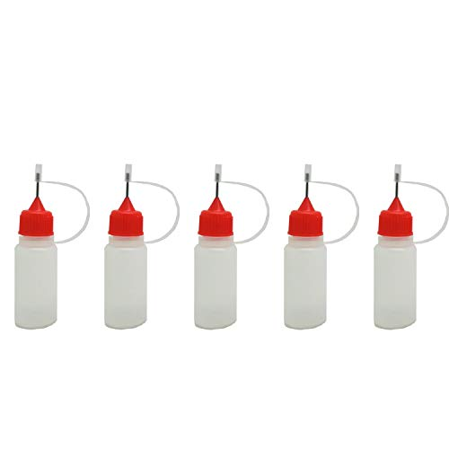 5pcs x Empty Plastic Squeezable Liquid Dropper Filling Bottles E-Juice Needle Tip LDPE (10ml) from AngelakerryAmazon