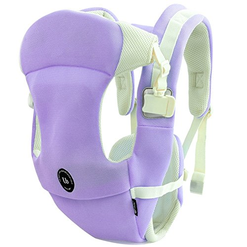UBELA Multifunction Baby Carrier | Lightweight Breathable Net Fabric | Designed for Summer | Multiple Carry Ways | Suitable for Newborn Infant Babies | Purple from Angelparty