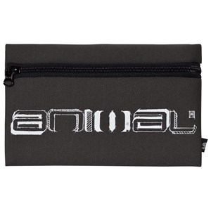 Animal Dark Grey Wave Flat Pencil Case One Size from Animal