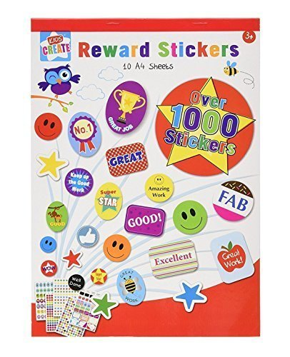 Childrens Reward Sticker Book - Over 1000 Stickers - Designs may vary from Anker International