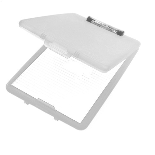 A4 Plastic Compact Clipboard Paper Storage Box File Clear 33.5cm x 24cm from Anker