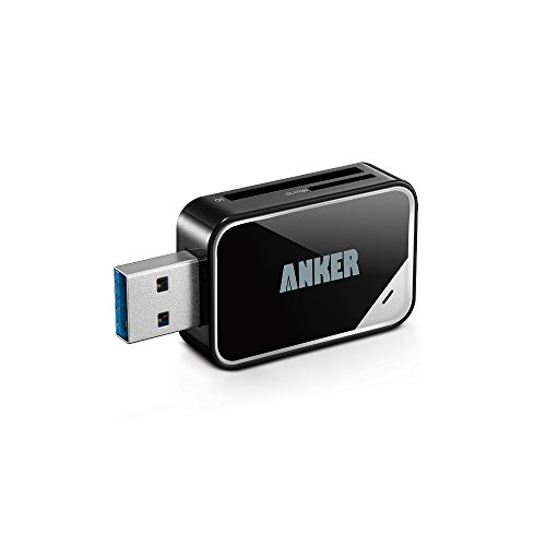 Anker® USB 3.0 Card Reader 8-in-1 for SDXC, SDHC, SD, MMC, RS-MMC, Micro SDXC, Micro SD, Micro SDHC Card, Support UHS-I Cards, 18 Months Warranty from Anker