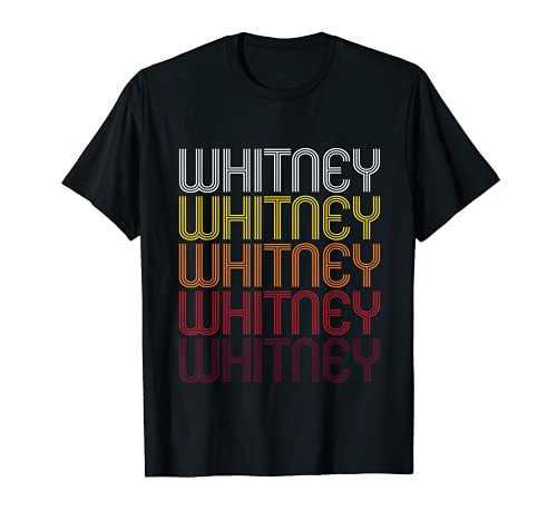 Whitney Retro Wordmark Pattern - Vintage Style T-shirt from Ann Arbor T-shirt Co