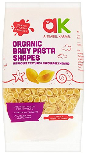 Annabel Karmel From 7 Months Organic Baby Pasta Shells 250 g (Pack of 8) from Annabel Karmel