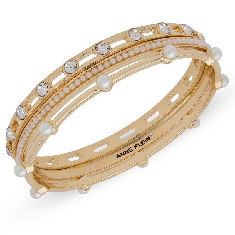 Anne Klein Jewellery Set of Three Bangles from Anne Klein Jewellery