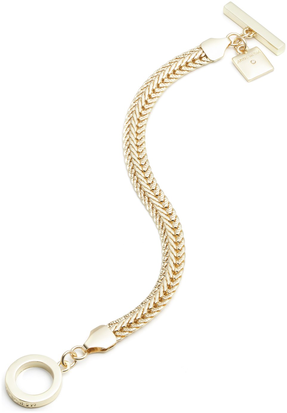 Anne Klein Gold Coloured Flat Chain Bracelet from Anne Klein